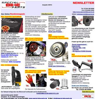 Newsletter special-bike-parts 5/2014